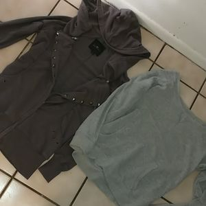 2 Sweatshirts size large & small EUC